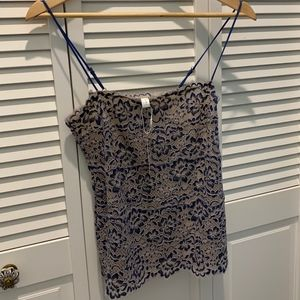 NWT Cosabella lace camisole, medium, blue